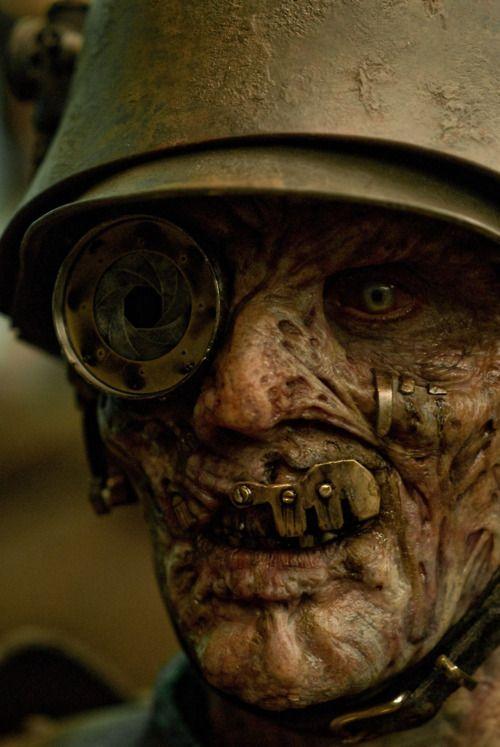 "Demon German Kevin Kirkpatrick makeup did alongside Harlow MacFarlane for ""Sucker Punch""."