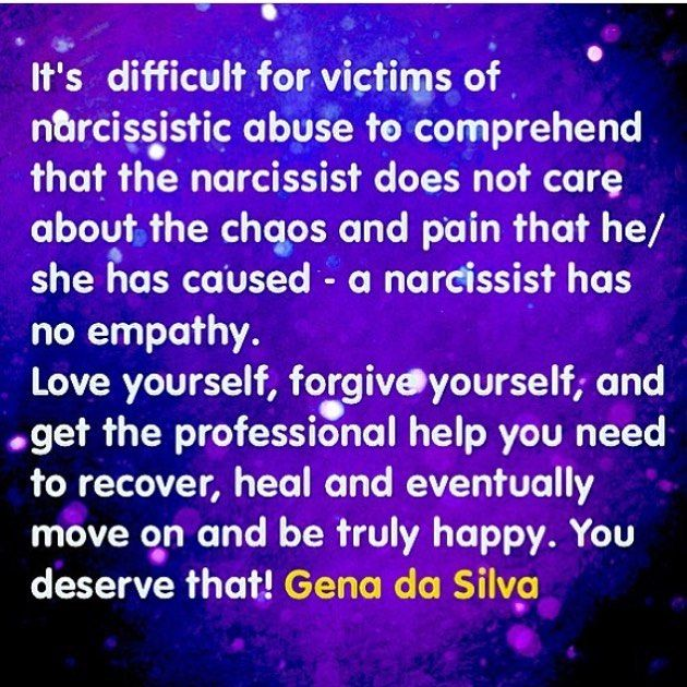Love yourself, forgive yourself and get the professional help you need to recover, heal and move on from Narcissistic Abuse and be truly happy again. | Narcissistic Abuse Recovery