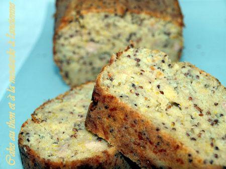 Cake au thon et à la moutarde à l'ancienne