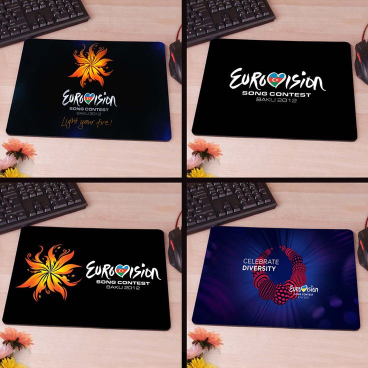 MaiYaCa Eurovision 2012 Logo Anti-Slip Rectangle Mouse Pad Customized Supported 220mmx180mmx2mm The best choice for a boyfriend