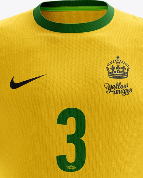Men's Full Soccer Kit Mockup - Front View (Close-Up)