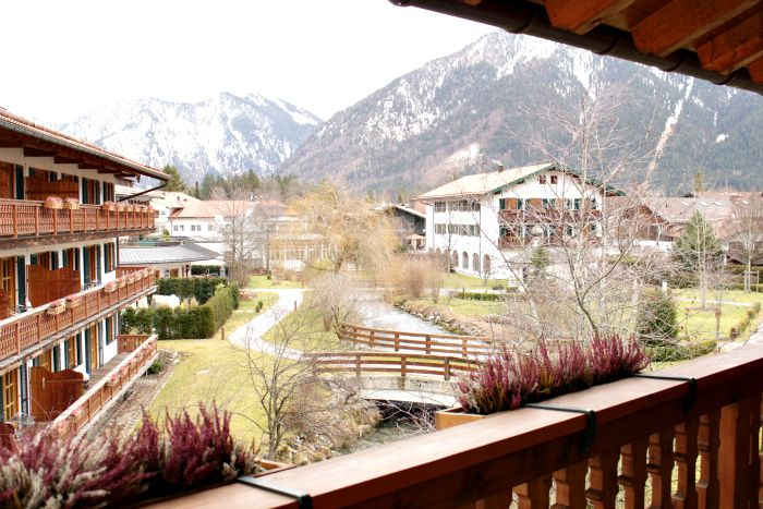 Hotel Bachmair Weissach Ausblick