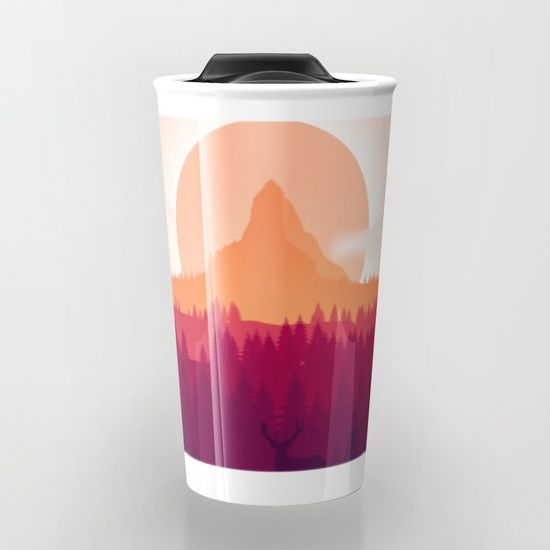 Can You See Deer In THe Art Travel Mug