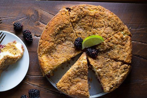 Cream Cheese Swirl Blackberry Coffee Cake