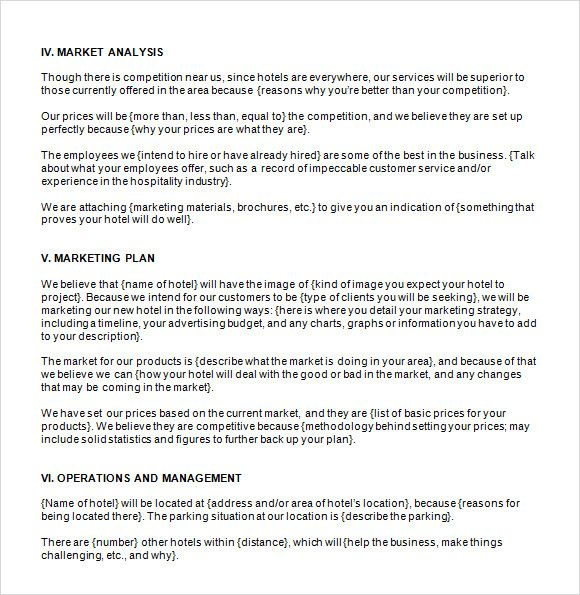 20 Hotel Business Plan Template In 2020 Business Plan Template