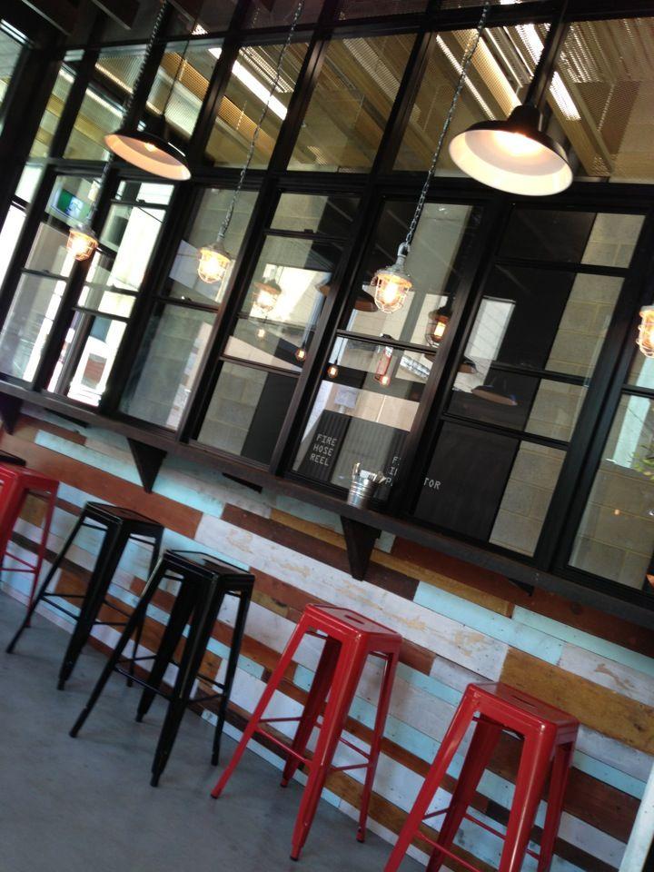Fancy Burger. Simple menu, cool booths, local beers.