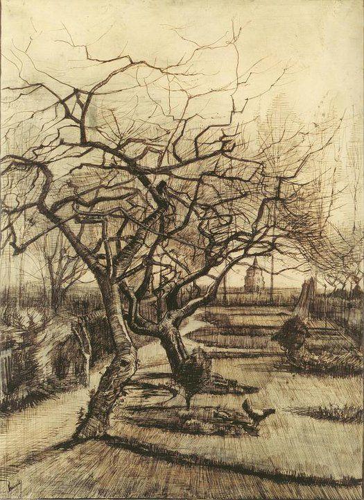 Van+Gogh - drawing of trees