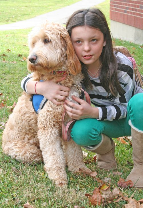 "Zoey, a goldendoodle diabetic alert service dog, can detect the nitrogen content in Brianna's breath, or even through her skin, and will ""alert"" by pawing at her leg if her sugar level either drops or rises to dangerous thresholds."