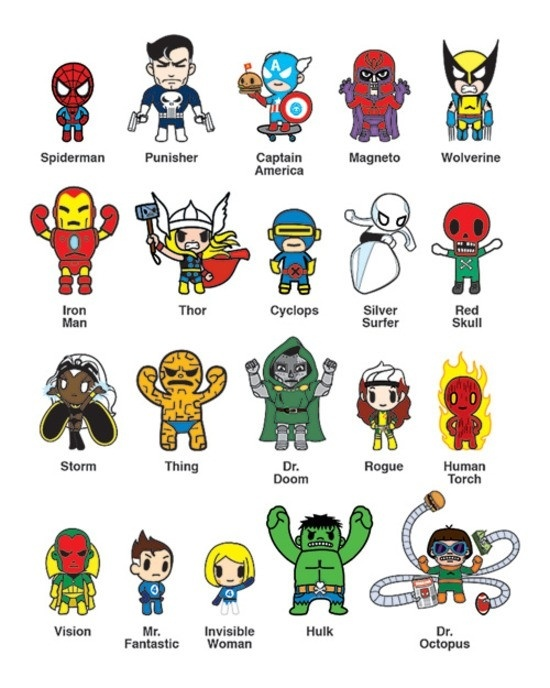все персонажи марвел список с картинками давние времена иногда