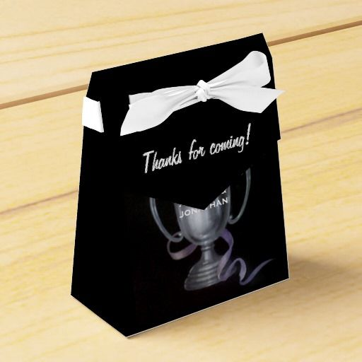 25th Silver Wedding Anniversary Personalized Party Favor Box