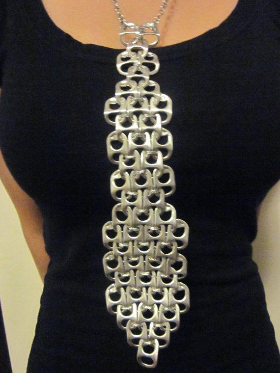 Pop Tab Tie Necklace