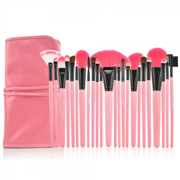 24 Piece Professional Cosmetic Brushes | Home Goods Galore
