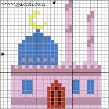 mosque cross stitch pattern - Google'da Ara