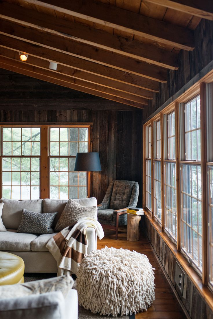 Rustic living room by Timothy Johnson Design #Muskoka #cottage #country