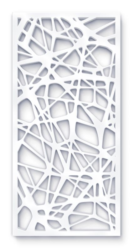 laser cut screen organic drift pattern