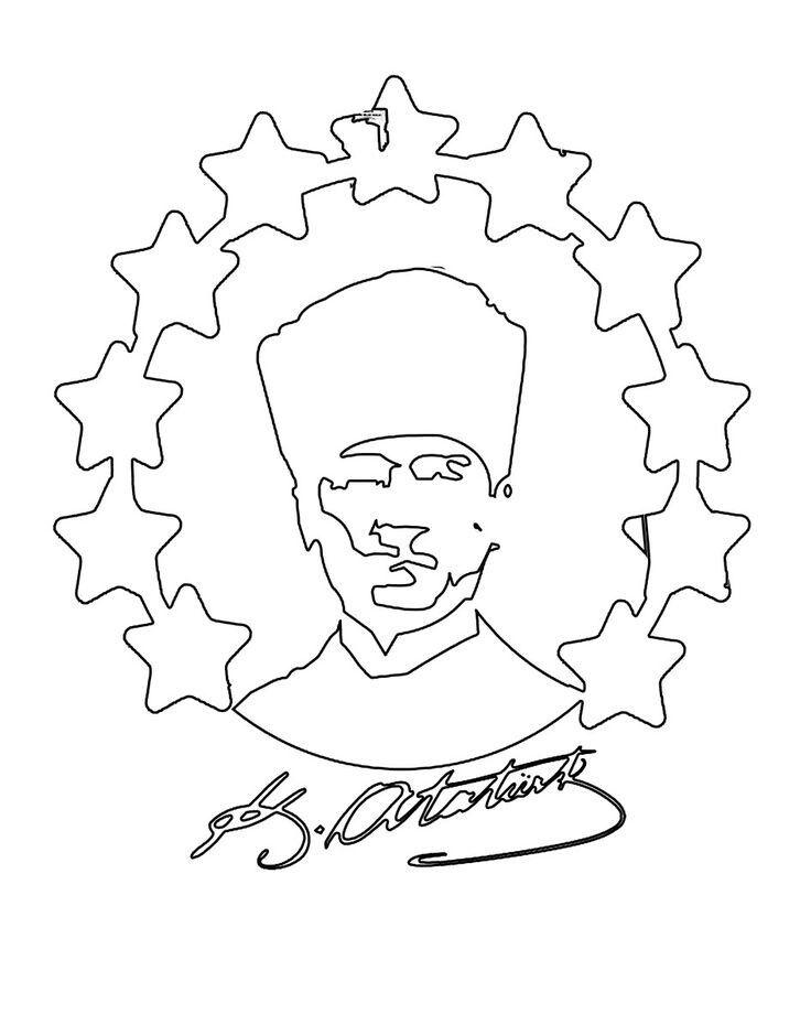 Fusun Adli Kullanicinin 10 Kasim Ataturk U Anma Panosundaki Pin Boyama Sayfalari Sanat Desenler