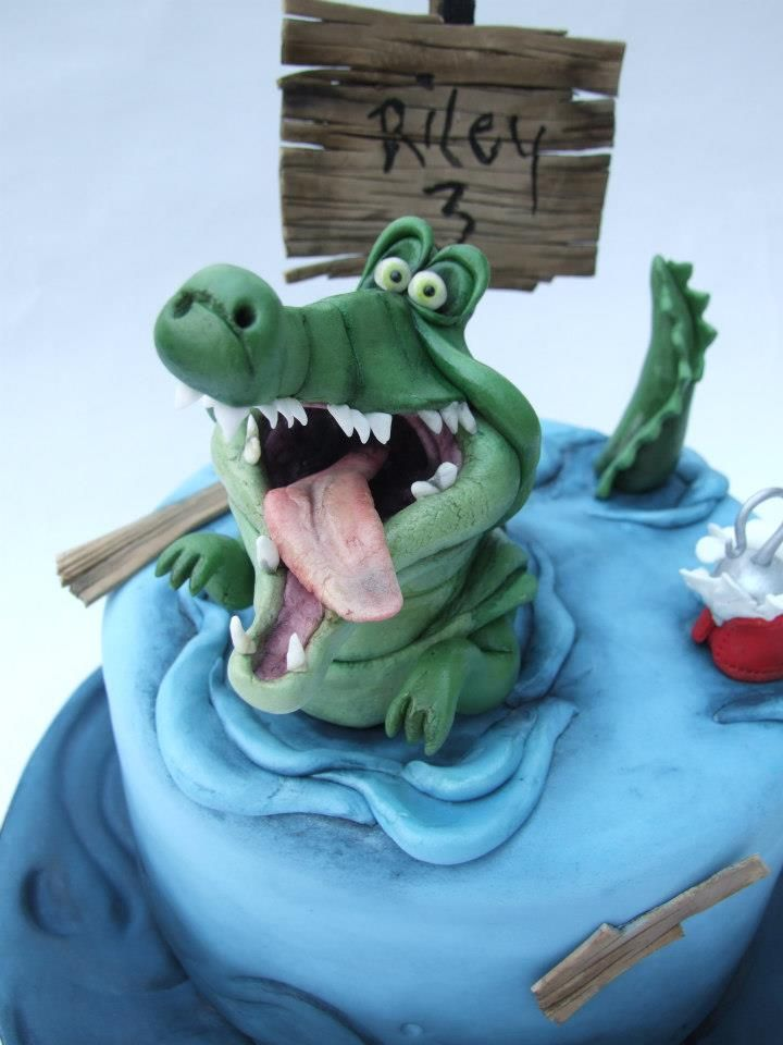 Crocodile cake for boy's birthday :)