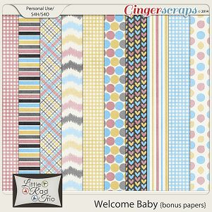 Welcome Baby - Bonus Papers by Little Rad Trio