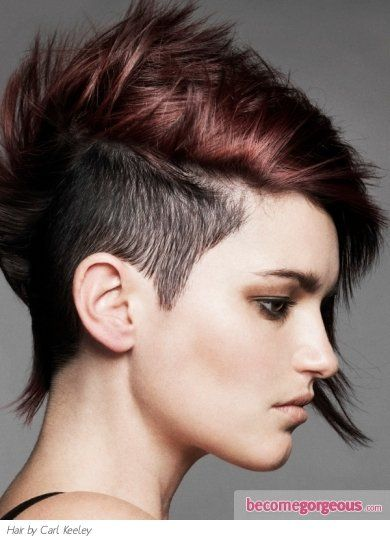 Pictures : Punk Girl Hairstyles - Chic Undercut Short Hair Style