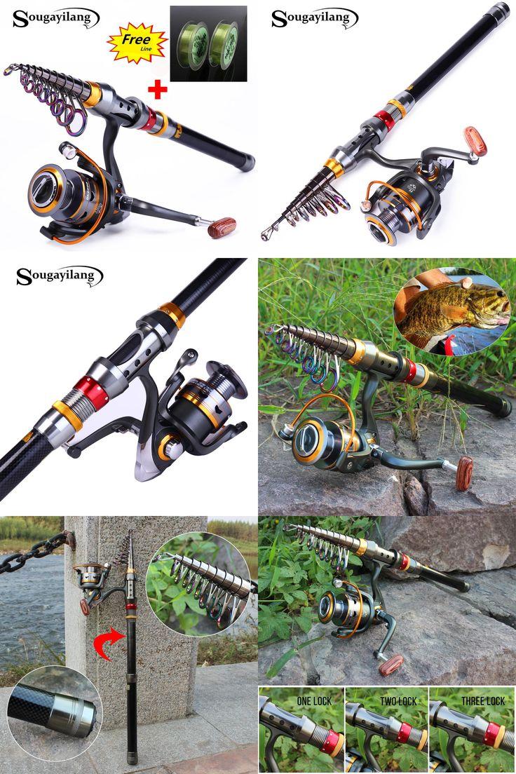 [Visit to Buy] Sougayilang 1.8-3.6m Telescopic Fishing Rod and 11BB Fishing Reel Wheel Portable Travel Fishing Rod Spinning Fishing Rod Combo #Advertisement