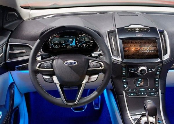 2013 Ford Edge Luxury Cockpit 600x429 2013 Ford Edge Full Reviews with Images