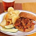"""Pulled Pork Sandwiches.  Alright peeps...I know you all think """"pulled pork sandwiches"""" means dumping a bottle of bbq sauce in with your meat.  drives me nuts.  You are doing yourself an injustice!  this recipe (from good housekeeping) has you make your own sauce (which is sooooo easy), and comes from ingredients you should have in your pantry--nothing special.  i LOVE it."""