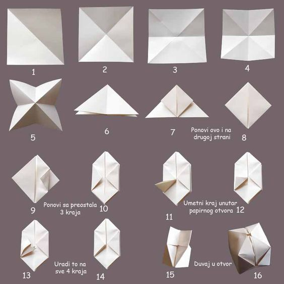 Reference for origami balloon: