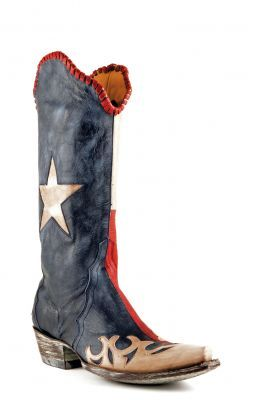 Womens Old Gringo Spirit Of Texas Boots Blue