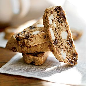 These crunchy cookies are perfectly dunkable—whether it's coffee, tea, or even cocoa. They store well so feel free to bake up an extra batch or two.Our first recipe is Deep Dark Chocolate Biscotti.Sneak in some good stuff with these coffee-dunking biscotti. Your little secret: whole-wheat flour, flaxseed, dark chocolate chips, and almonds add fiber and antioxidants without sacrificing one ounce of pleasure.