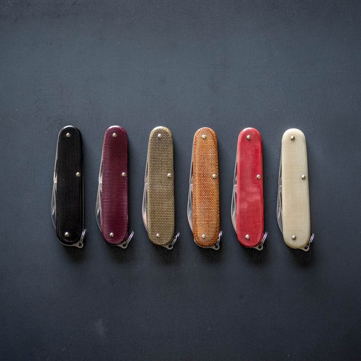One-of-a-kind Custom Cadets  Chris Baker's custom Victorinox Cadets are truly unique works of art. These carefully crafted pieces are handworked by Chris, who i