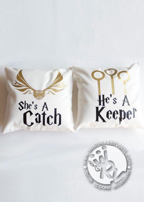 Harry Potter Catch and Keeper Pillow Case Set – White Rabbit Vinyl | #HarryPotter #HP #Hogwarts