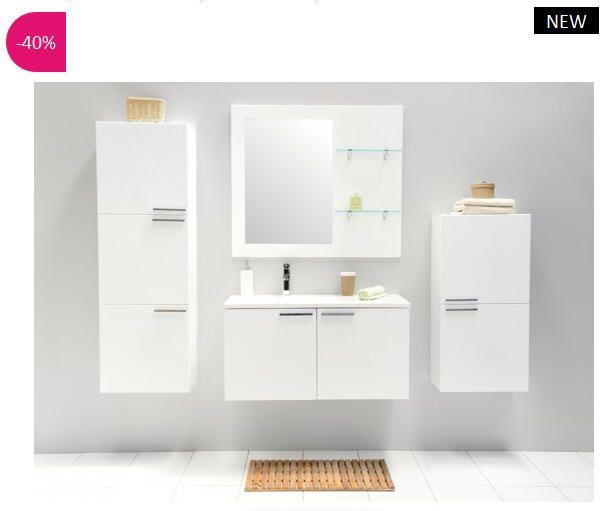 Ensemble de salle de bains design Abrezza 91 ATYLIA prix promo