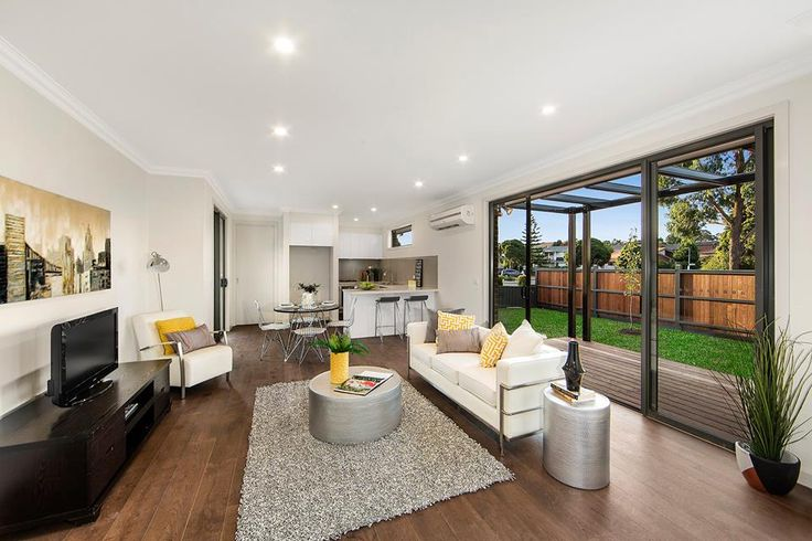 Living in open design with the outside in view. David Reid Homes Luxury Home Builders Melbourne East.  https://www.facebook.com/DRHME/posts/1582554118453531