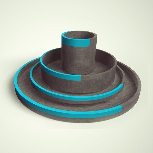 Diploma project - Concrete tableware! on Behance #Ann-Christin #Zaske #Cologne #Germany #béton #concrete #tableware