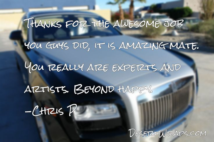 You are amazing Chris!! Thanks for the awesome feedback. http://www.DesertWraps.com #VanWrap #CarDecal #BizTalk