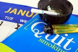 Quitting smoking for new years is a big step to becoming healthier.
