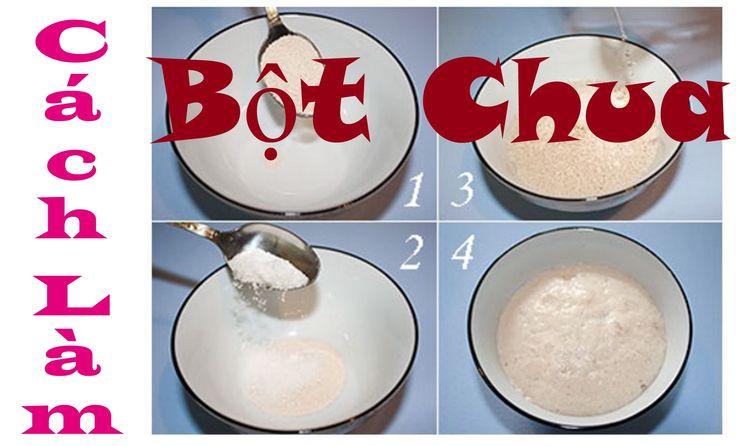 Опара & Тесто Cách làm Bột Chua Men nở khô как сделать опару  [Học làm B...
