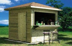 Abri de jardin bar cabane mobil home pinterest blog garage et bar - Customiser un bar en bois ...