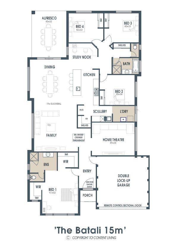 Batali 288m2 Home Design Content Living Content Living House Design Floor Plans 4 Bedroom House Plans