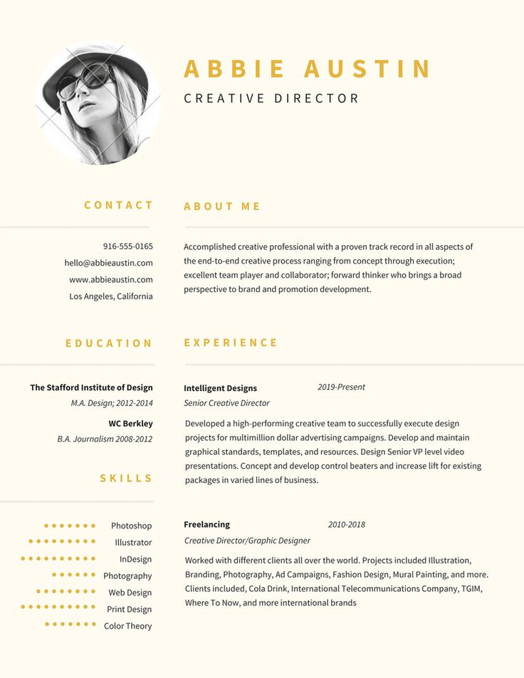 18 best resume  self branding images on Pinterest Curriculum - resume with accent