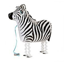 Gående Zebra heliumballong