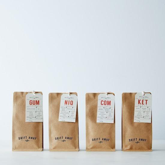 Driftaway Single Origin Coffee Sampler (Set of 4): Switch up your cuppa. #food52