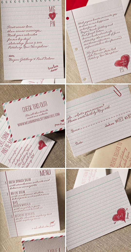 Love Note Wedding Invites by Elum Seen