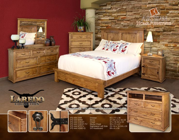 IFD 444 Laredo Cowhide Bedroom Collection From Artisan Furniture Of  International Furniture Direct