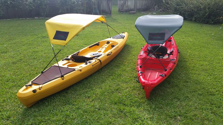 A sturdy and easy to attach Bimini top for your kayak! Comes in a bag ready to go! Check us out at adventurecanopies.com and on FB!