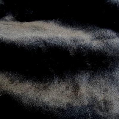 #tissu #imitation #daim-#fausse #fourrure #rase #noire