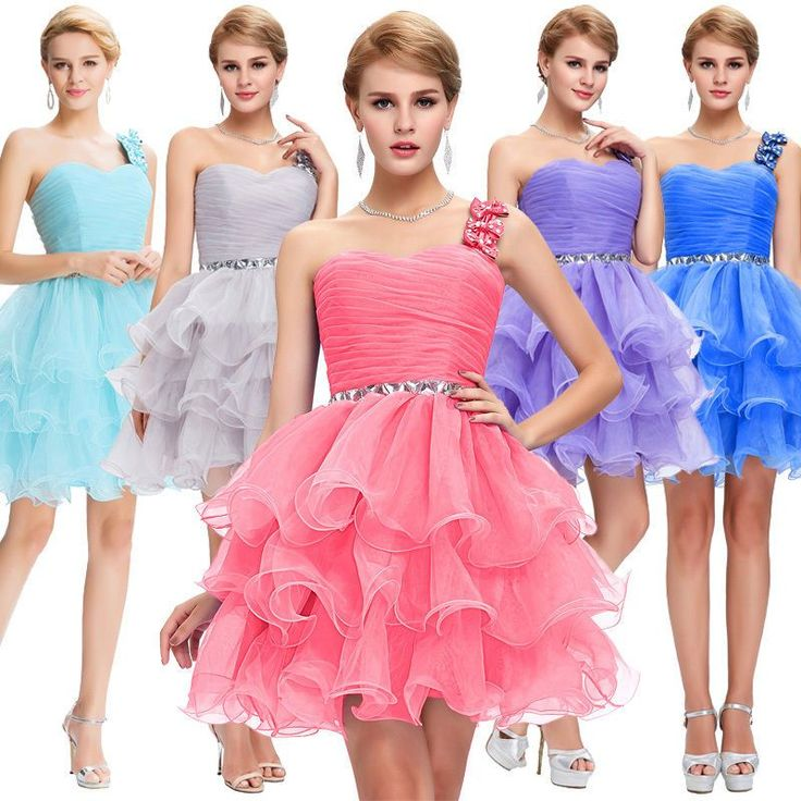 Oganza Short Mini Dress Cocktail Bridesmaid Gown Homecoming Party Prom Evening #GraceKarin #BallGown #Formal