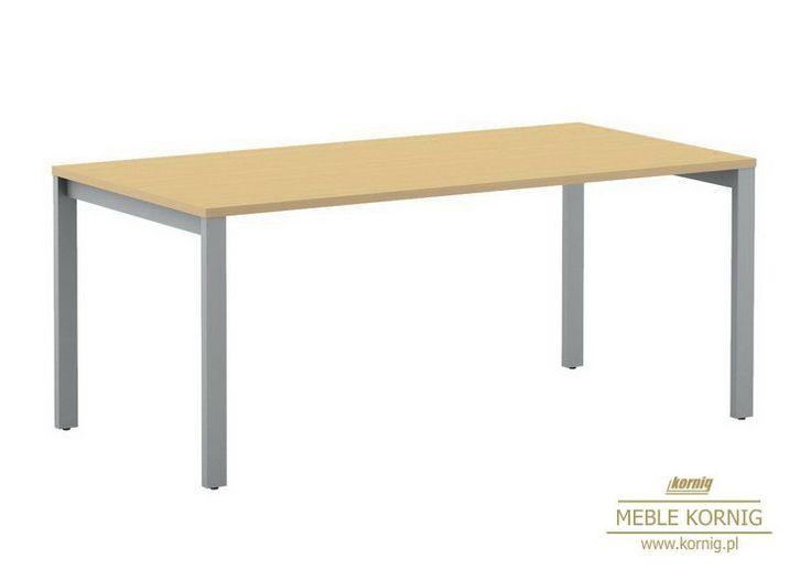 Konferencyjny na kwadratowych nogach i z blatem z płyty melaminowej stół do dużych i małych sal