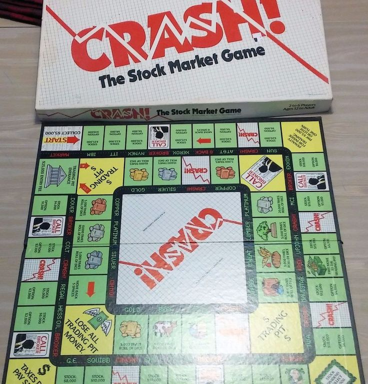 Vintage 1988 CRASH Stock Market Board Game