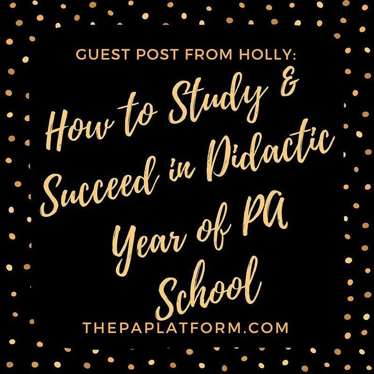 New post on the blog today from @xohollyd all about how to study and succeed the didactic year of PA school! Link in profile to read the article! #prepa #pacoach #prepaclub #dermpa #paschool #paprogram #physicianassistant #futurePA #mockinterview #futurephysicianassistant